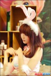 超级可爱的兔子装美眉cosplay秀